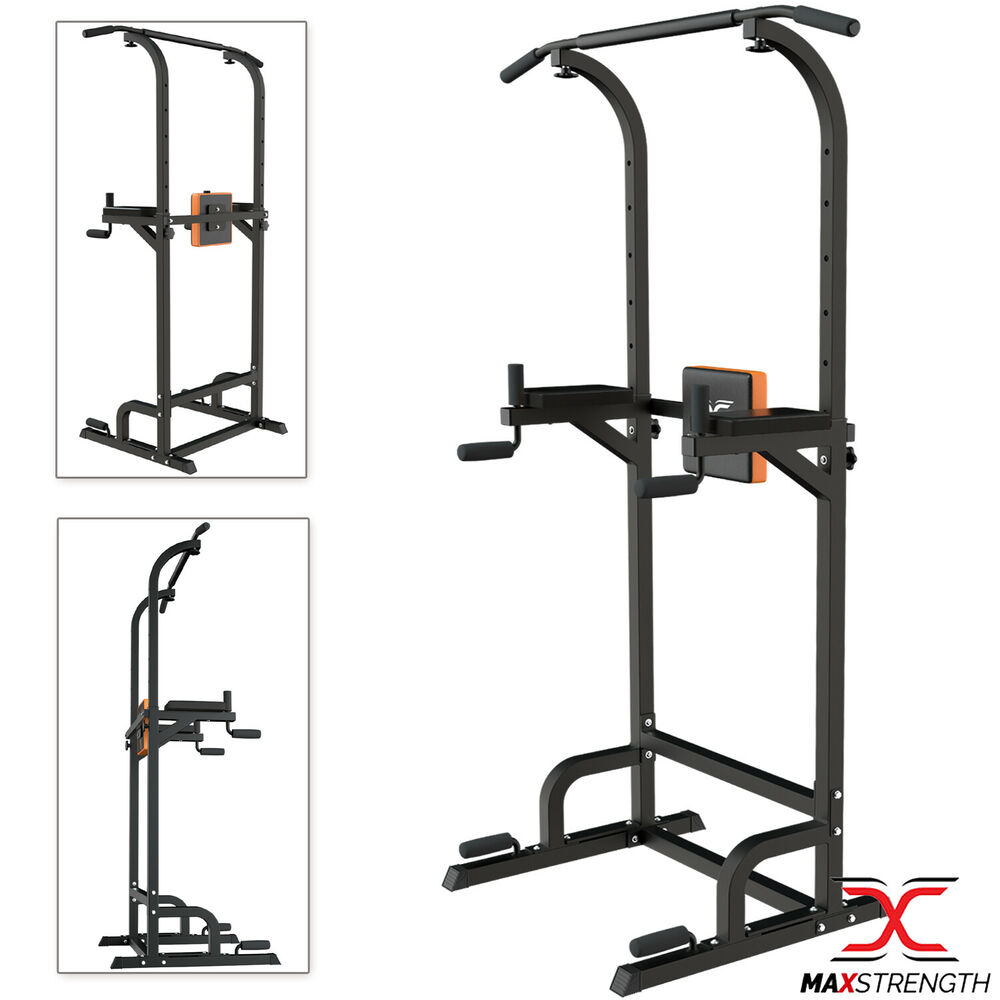 maxstrength pull up power tower station abs knee crunch. Black Bedroom Furniture Sets. Home Design Ideas