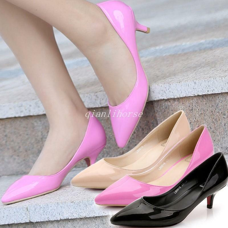 Low Heel Pointed Toe Shoes