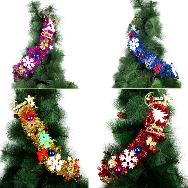 Christmas ornaments tinsel xmas tree door wreath How to hang garland on a christmas tree