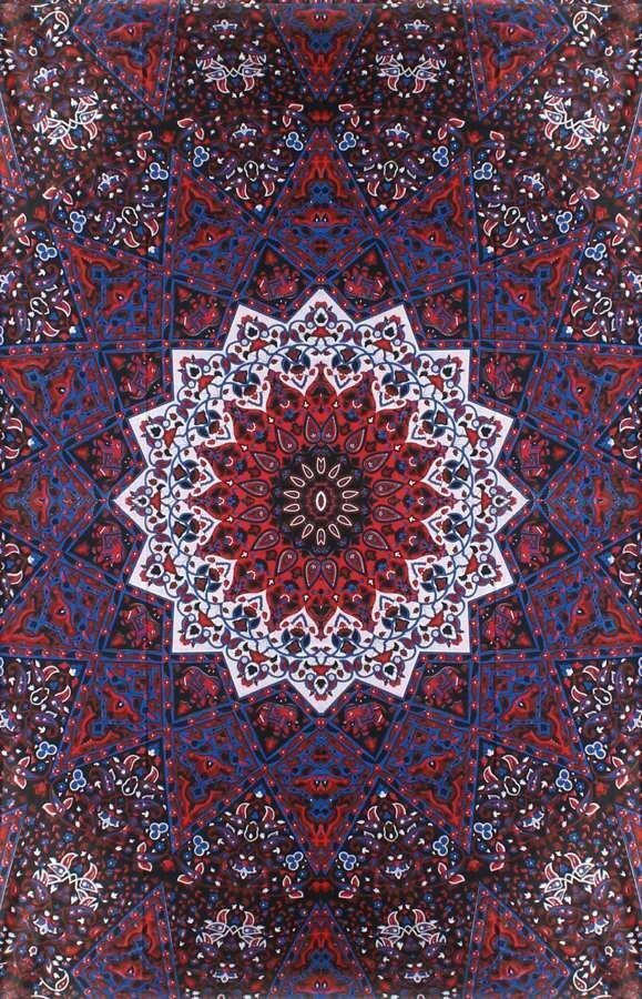 Paisley Kaleidoscope Star Mandala Hippie Boho India