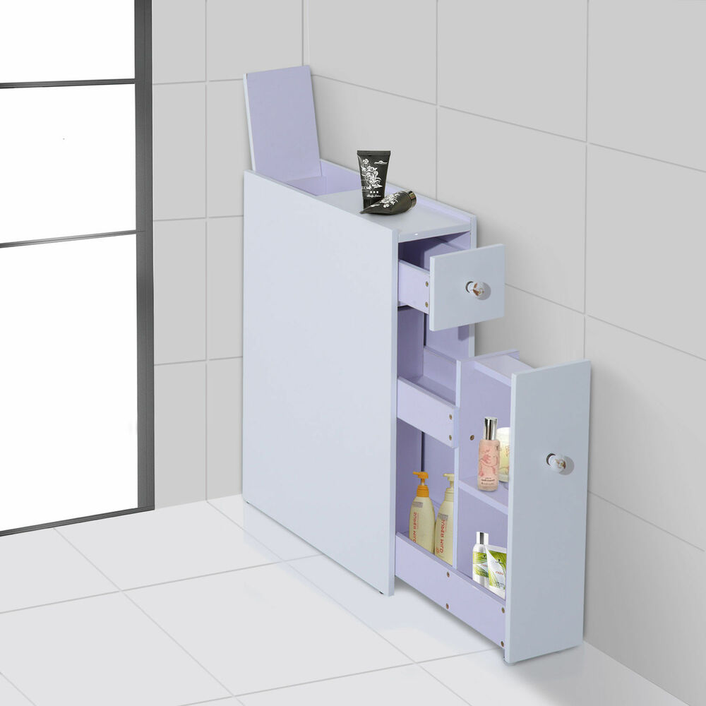 Bathroom Floor Cabinet Cupboard Modular Shelves Toiletries