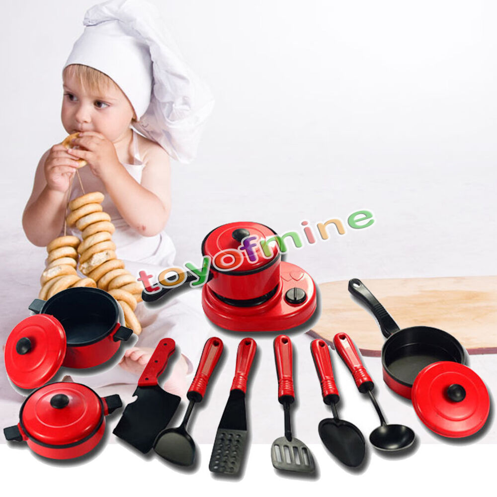 Pretend Play Toys : Pcs kids kitchen ware cooking utensil pretend play toy