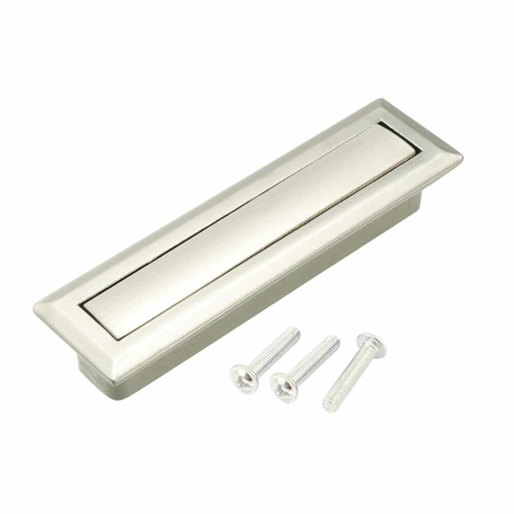 door drawer push out concealed ring flush recessed pull