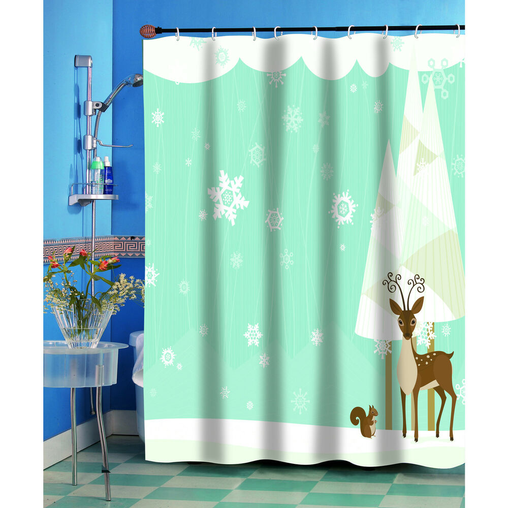 Forest Friends Christmas Holiday Themed Fabric Shower