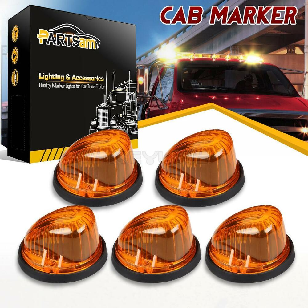 5x1313 Cab Roof Light Marker Amber Cover Base For 73 87