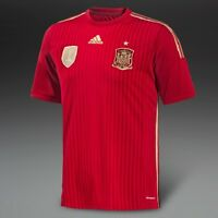 SPAIN 2014 WORLD CUP ADIDAS HOME SHIRT IN ADULT SIZES S, M, L & XL *BNWT*