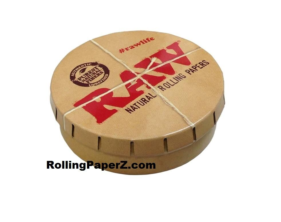 Raw Rolling Papers Round Pop Top Tobacco Smoking