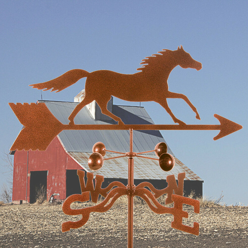 Vintage Weather Vane: Antique Look Traditional Running Horse Weathervane