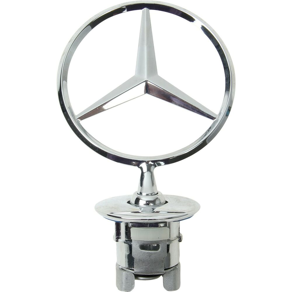 for benz w204 w211 w212 w221 front hood star emblem chrome. Black Bedroom Furniture Sets. Home Design Ideas