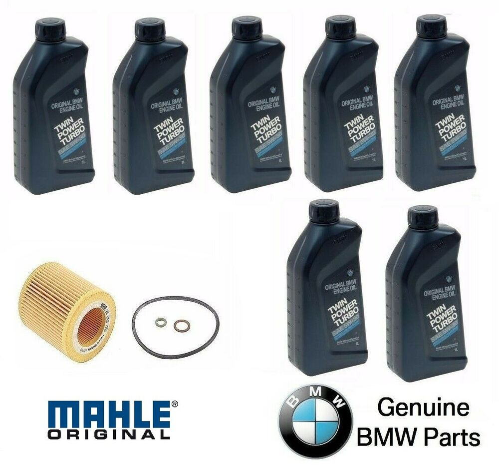 7 quarts genuine synthetic bmw 5w30 motor oil and 1 mann for Motor oil for bmw