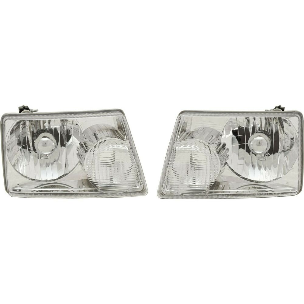 Headlight Set For 2001-2011 Ford Ranger Driver And