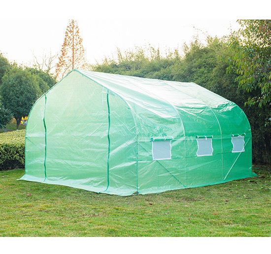 Walk In Garden Box: Outsunny 12'x10'x7' Greenhouse Portable Large Walk-In