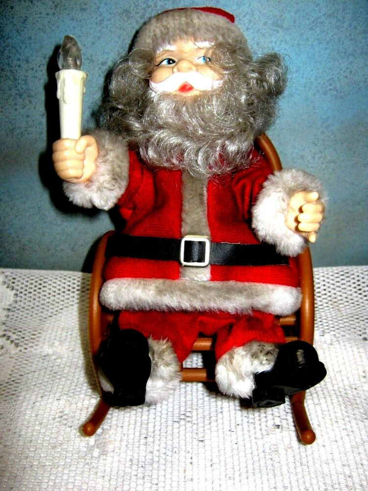 Vintage Santa Claus On Rocking Chair 1950 S 60 S Lights