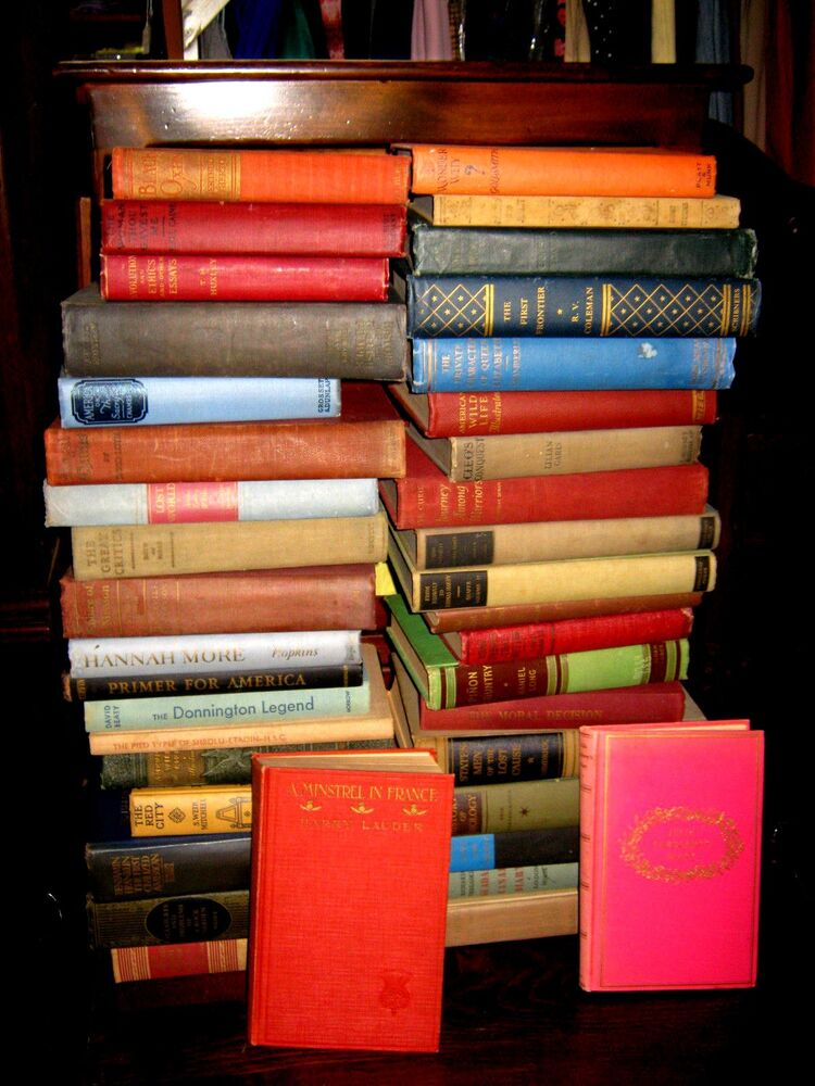 Lot of 10 ANTIQUE Old Vintage Books All Hardcover No reserve