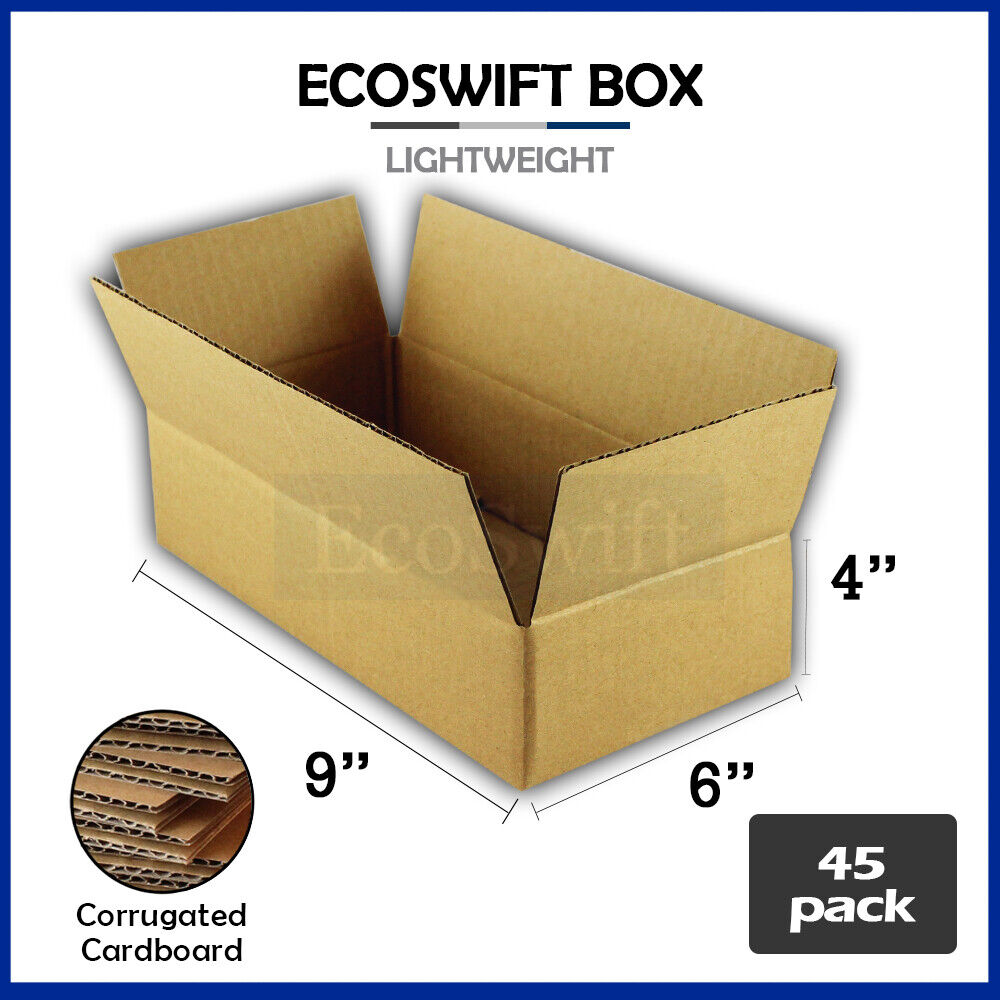 45 9x6x4 cardboard packing mailing moving shipping boxes. Black Bedroom Furniture Sets. Home Design Ideas