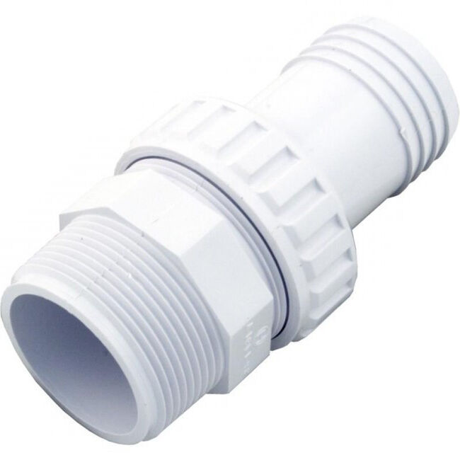 Hayward 1 5 Inch Mip X 1 5 Hose Abs Plastic Barbed Hose Fitting White Sp1493 Ebay