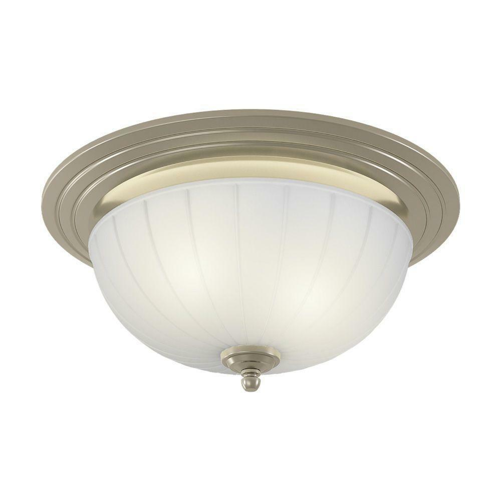 nutone decorative brushed nickel 70 cfm ceiling exhaust bath fan light