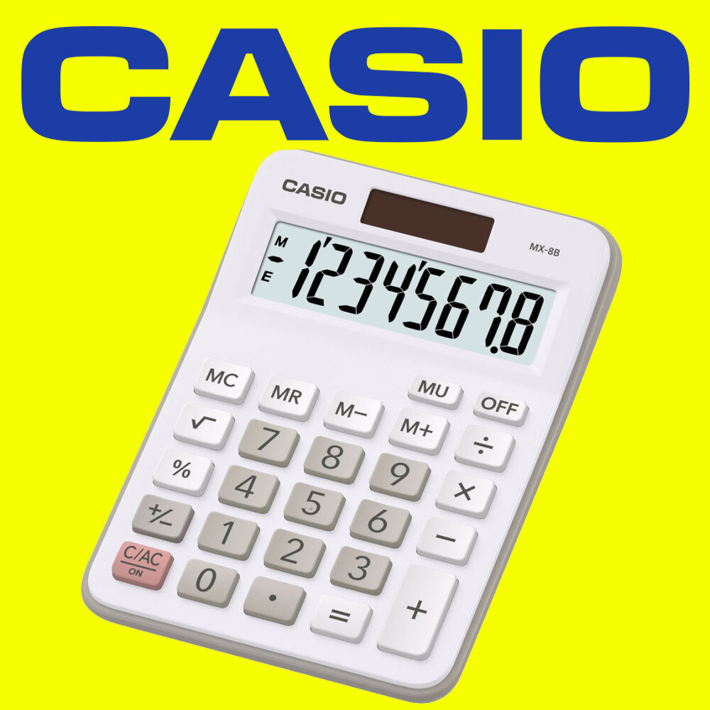 Casio MX-8B White Ideal Student Home Business Office ...