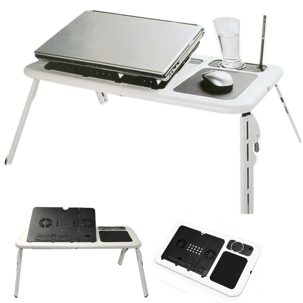 Folding Portable Laptop Desk Table Bed Tray Stand Mouse