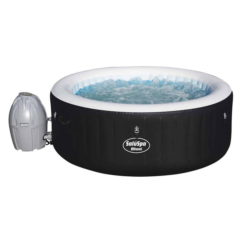 bestway saluspa 71 x 26 inch inflatable portable 4 person spa hot tub 54124 ebay. Black Bedroom Furniture Sets. Home Design Ideas
