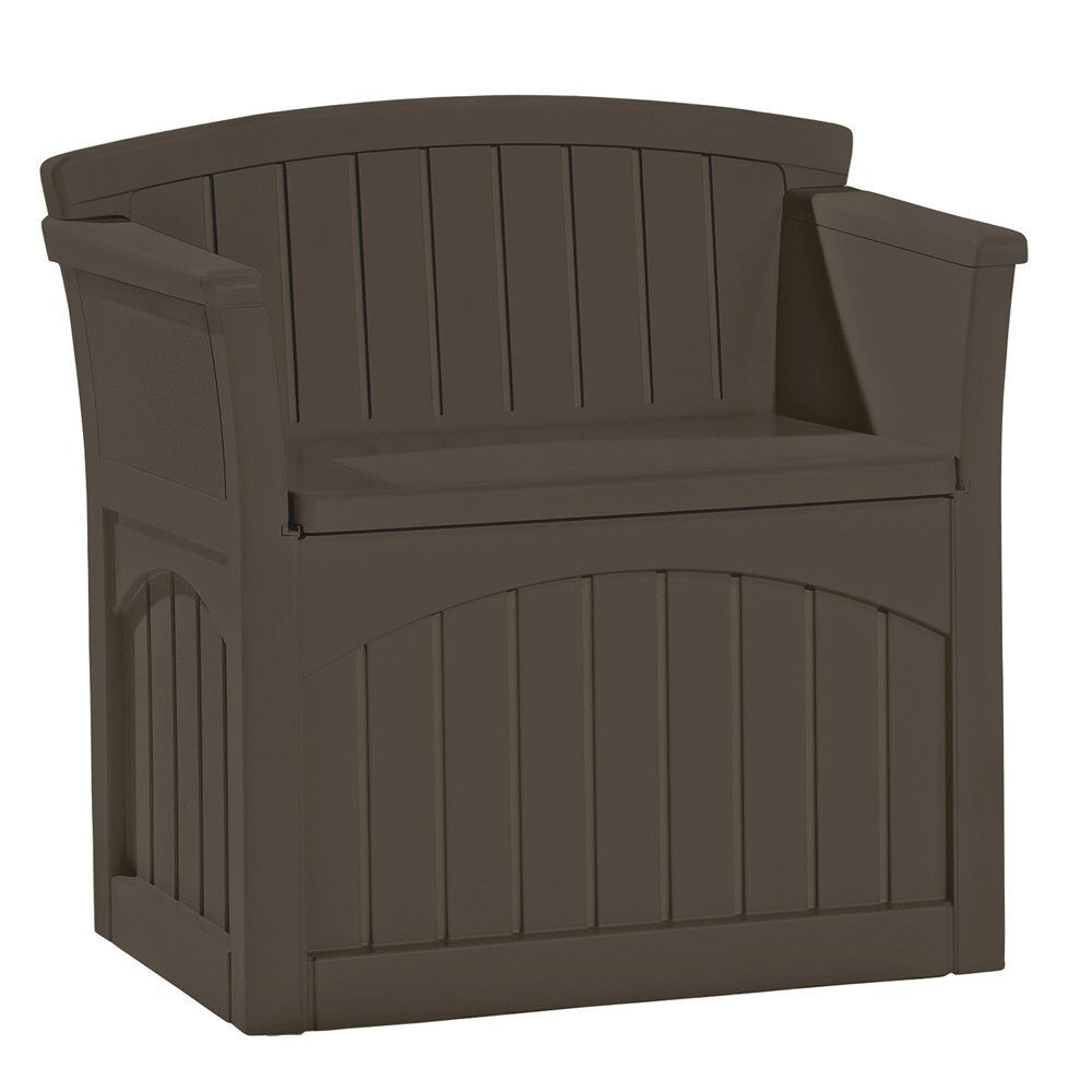 Suncast 31 Gallon Patio Seat Outdoor Storage And Bench Chair Java Pb2600j Ebay