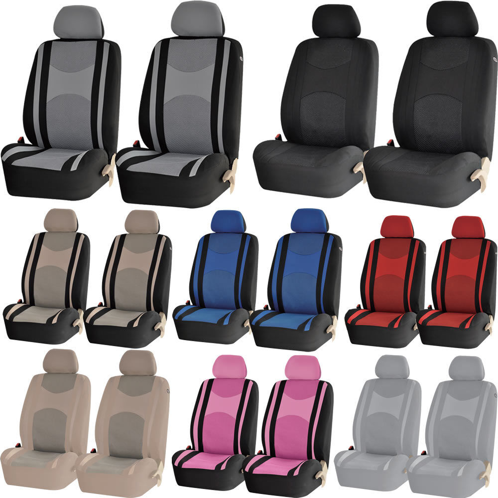 mesh honeycomb front low back pair car seat covers set universal for car ebay. Black Bedroom Furniture Sets. Home Design Ideas
