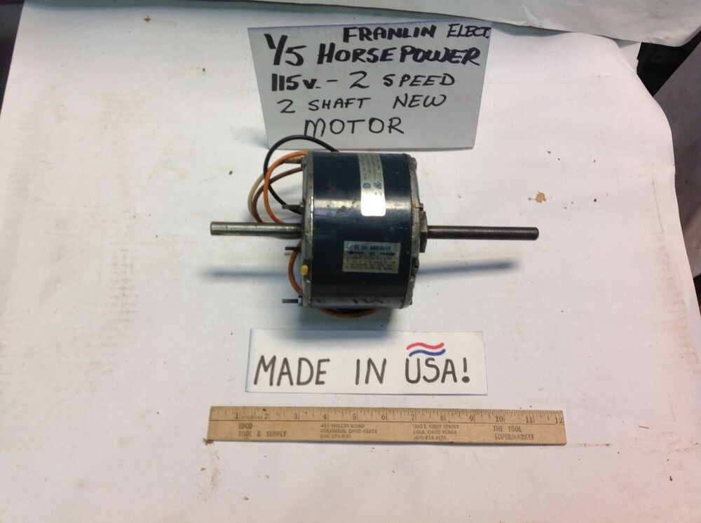 1 5 hp franklin electric c0 motor usa two speed reversing for Two speed electric motor