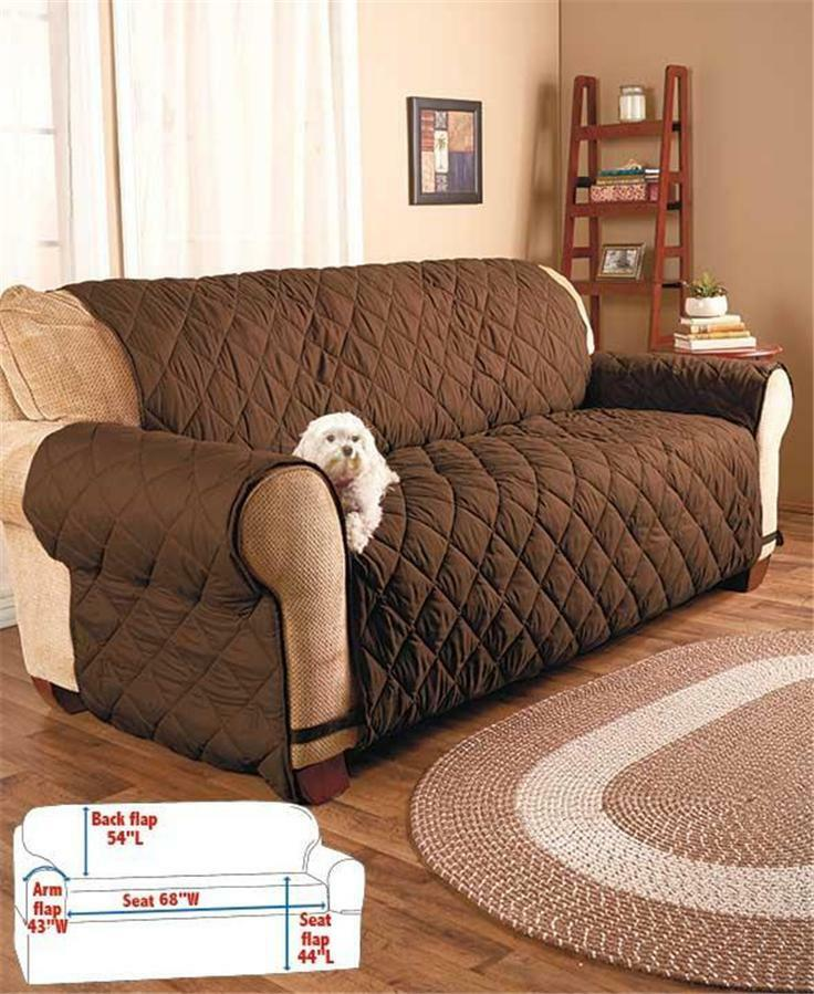 QUILTED PLUMPED FABRIC FURNITURE SOFA LOVESEAT CHAIR