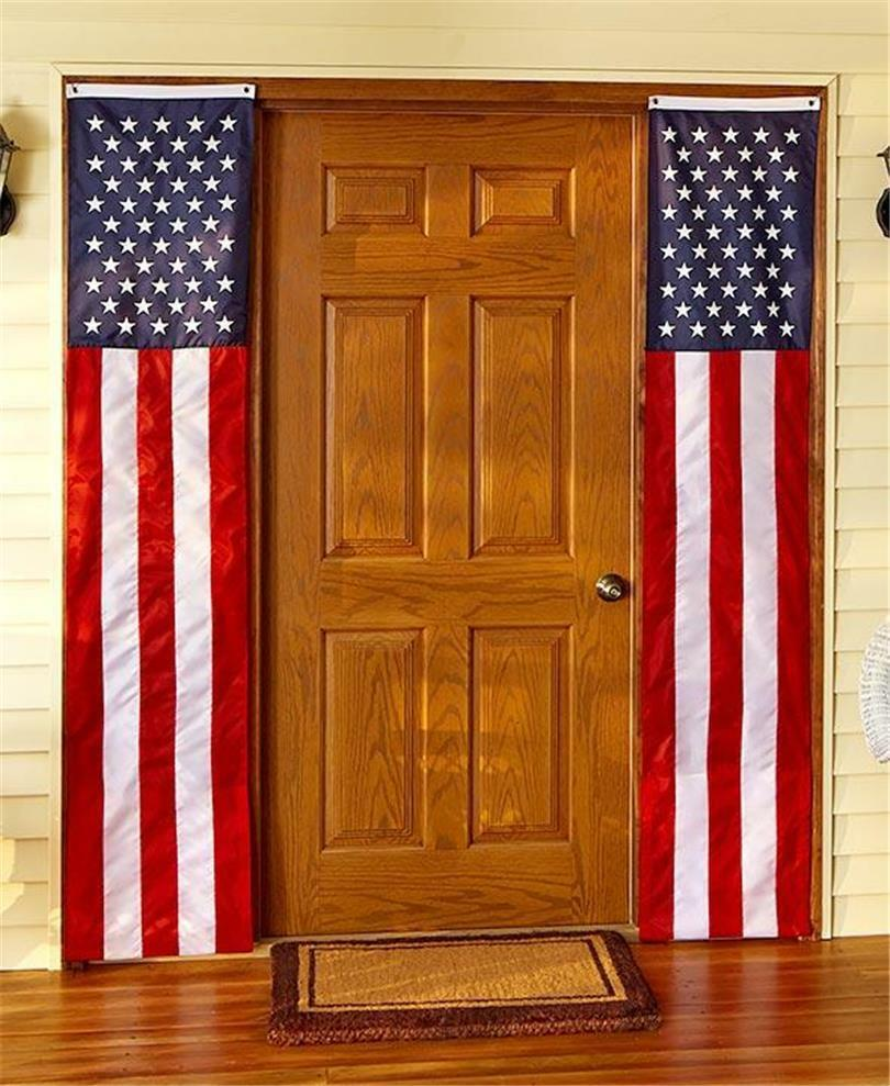 2 red white and blue patriotic americana 98 x 18 door for Americana home decor