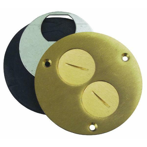 4 Quot Brass Floor Box Outlet Cover By Thomas Amp Betts P60du Ebay