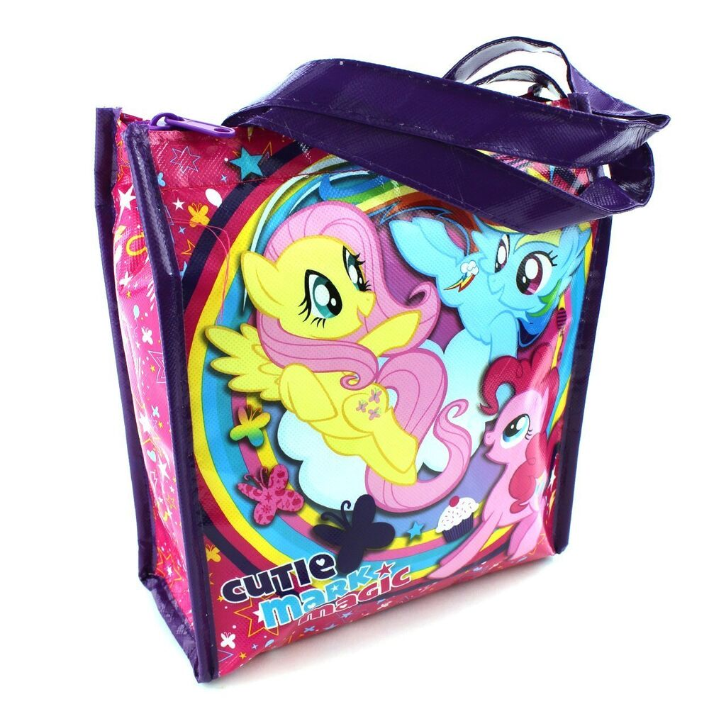 my little pony soft tote lunch box ebay. Black Bedroom Furniture Sets. Home Design Ideas