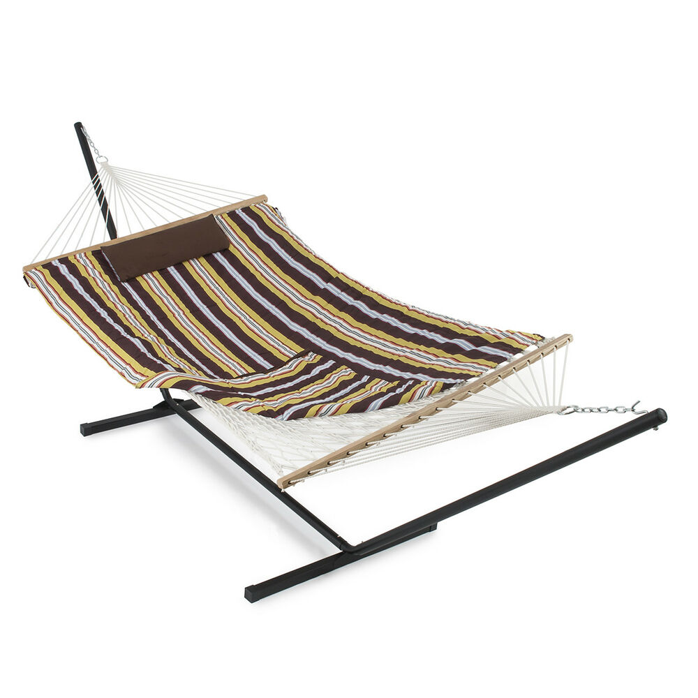 New 12 Ft Hammock With Stand Pad And Pillow Tablet Cup