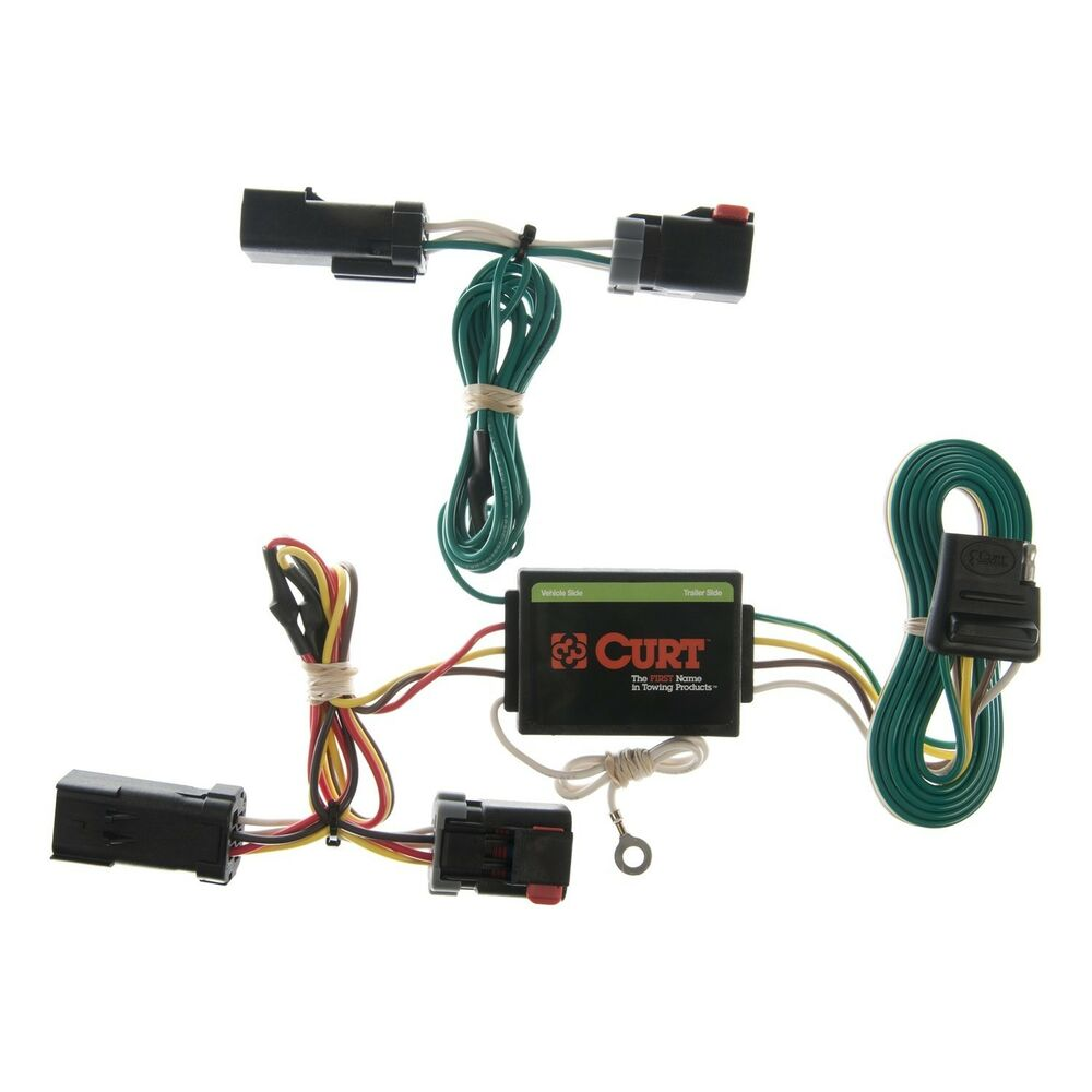 Trailer Connector Kit Custom Wiring Harness Fits 02 07 Jeep Liberty Hitch No Converter 4 Flat Fit Curt Ebay