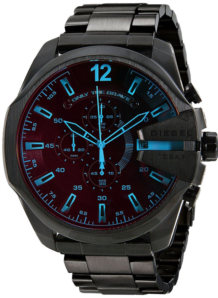 diesel dz4318 chronograph herrenuhr mega chief schwarz armbanduhr uhr ebay. Black Bedroom Furniture Sets. Home Design Ideas