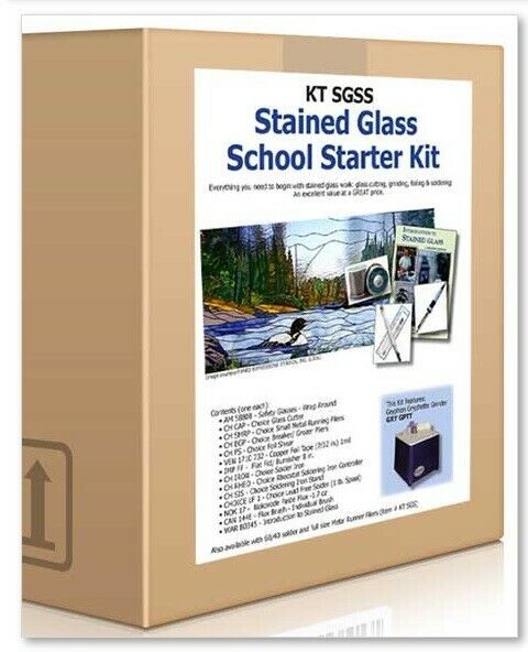 stained glass school starter kit set grinder tools soldering iron instruction ebay. Black Bedroom Furniture Sets. Home Design Ideas
