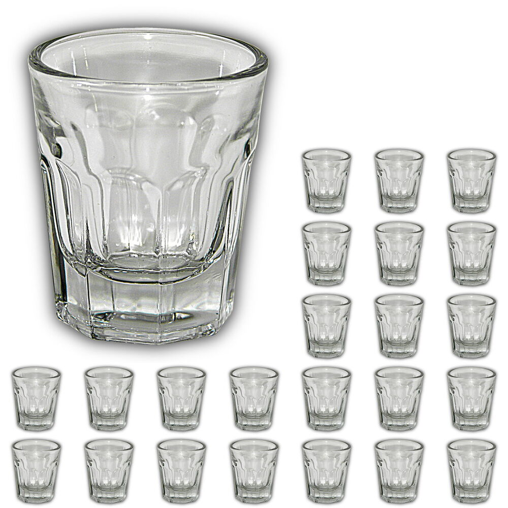 24 st ck kleine schnapsgl ser 3 cl schnapsglas pinchen f r vodka wodka shots ebay. Black Bedroom Furniture Sets. Home Design Ideas