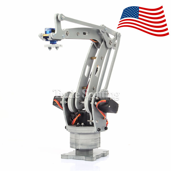 Robotic Palletizing Arms : Usa stock assembled axis palletizing robot arm model