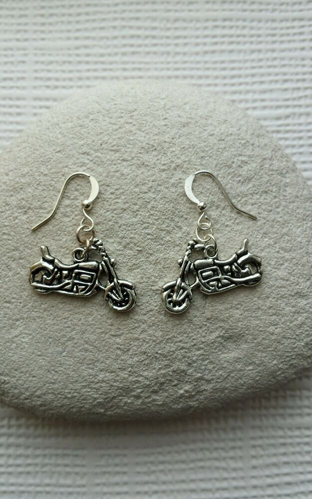 Harley davidson motor bike earrings ebay for Harley davidson jewelry ebay