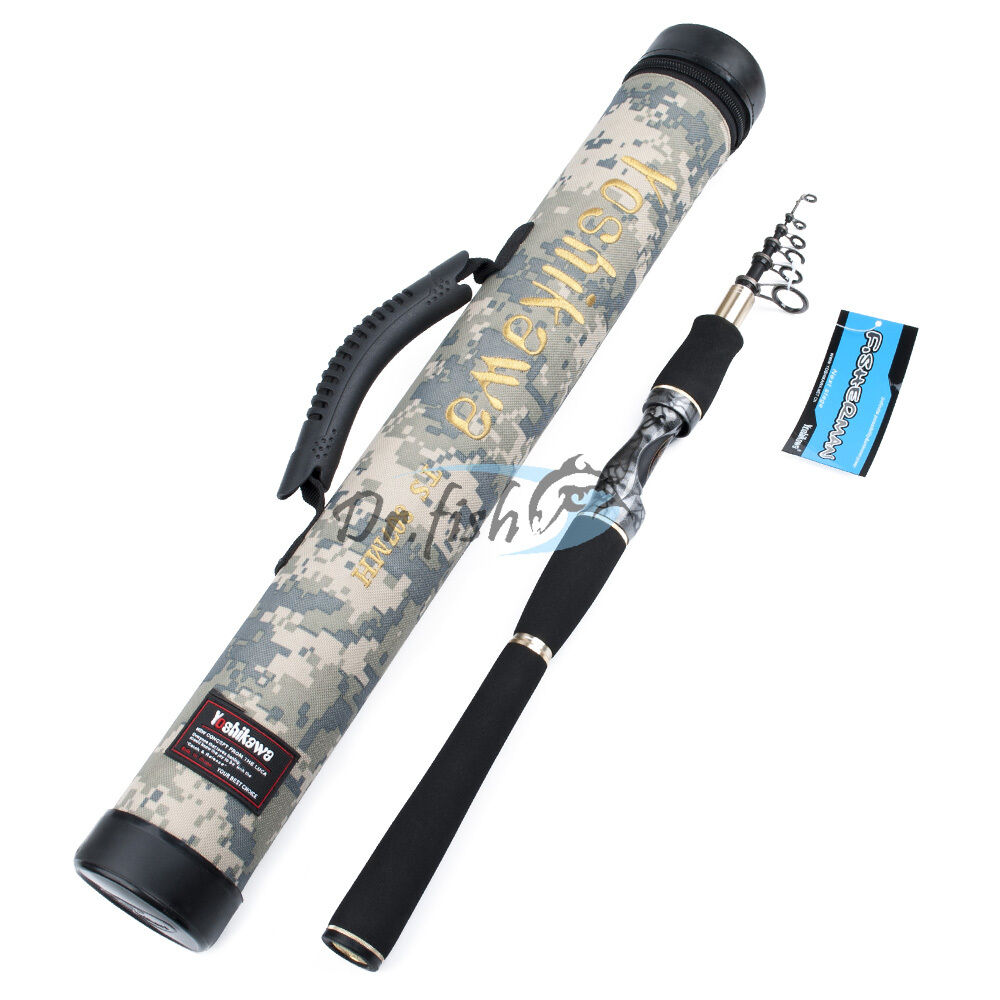 7 9ft telescopic spinning fishing rod carbon fiber m for Fishing rod case