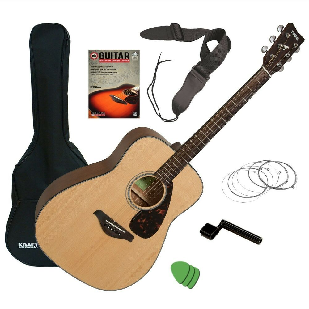 yamaha fg800 acoustic guitar natural guitar essentials bundle 889025103664 ebay. Black Bedroom Furniture Sets. Home Design Ideas