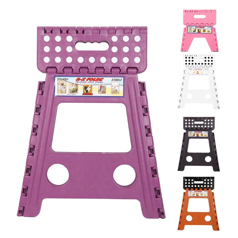 Plastic Multi Purpose Folding Step Stool Fit Home Kitchen