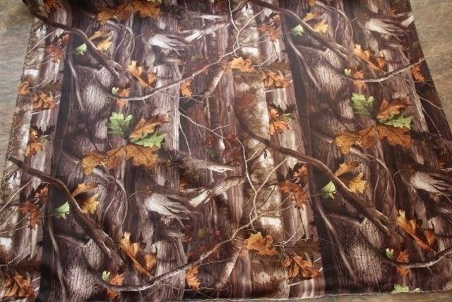 Real Tree Hardwood Fall Leaves Outdoor Duck Fabric