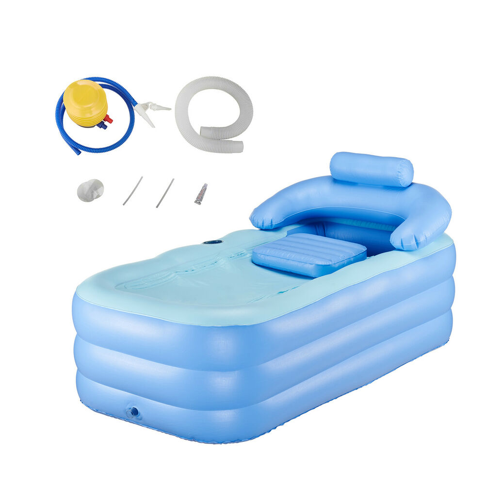 New Adult PVC Portable Spa Warm Bathtub Inflatable Bath Tub Air Pump Blow Up