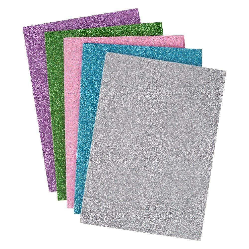 10 glitter a5 foam sheets art craft red green silver blue for How to cut thick craft foam