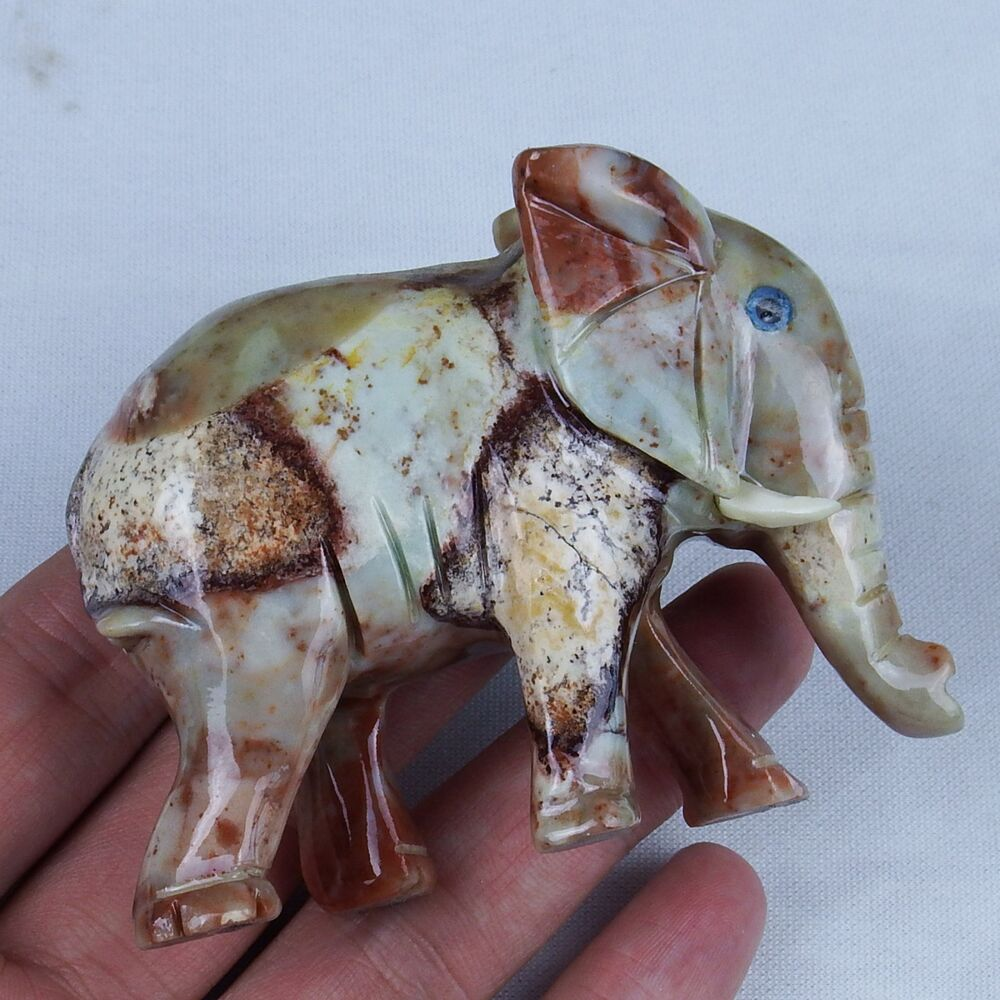 gemstone colorful animal carving figurines