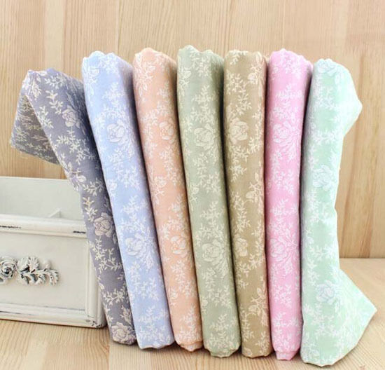 Wholesale series 7 pcs pre cut cotton quilt fabrics for for Bulk sewing material