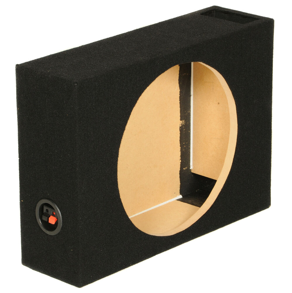 new q power shallow110 single 10 vented shallow subwoofer. Black Bedroom Furniture Sets. Home Design Ideas