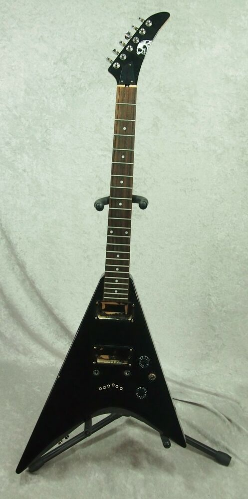 epiphone demon v electric guitar body for parts project ebay. Black Bedroom Furniture Sets. Home Design Ideas