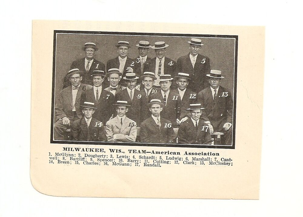 Milwaukee Brewers 1910 Team Picture Doc Marshall | eBay