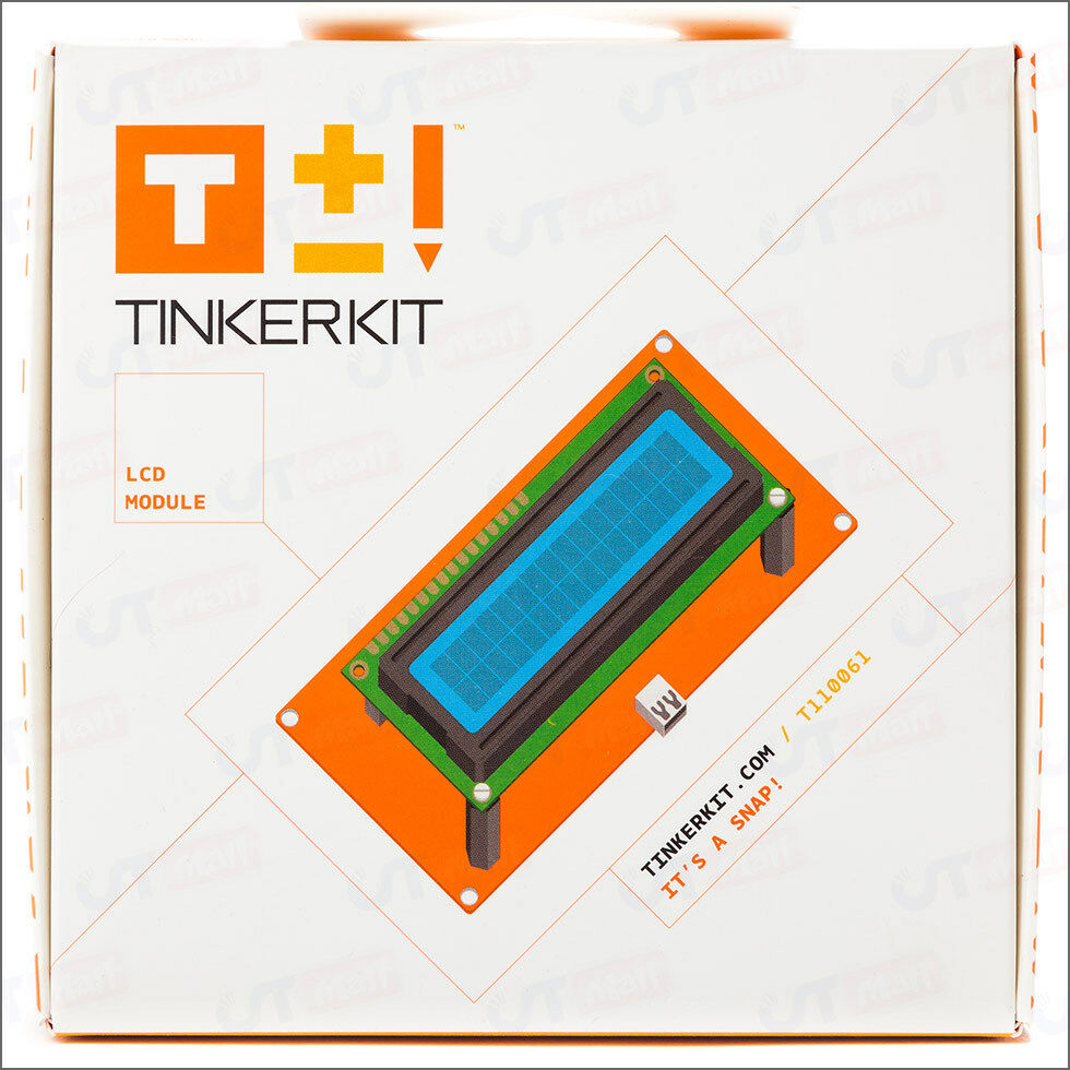 New tinkerkit electronics lcd module shield text